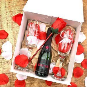 Geschenkbox 'Cava' - 2 glazen
